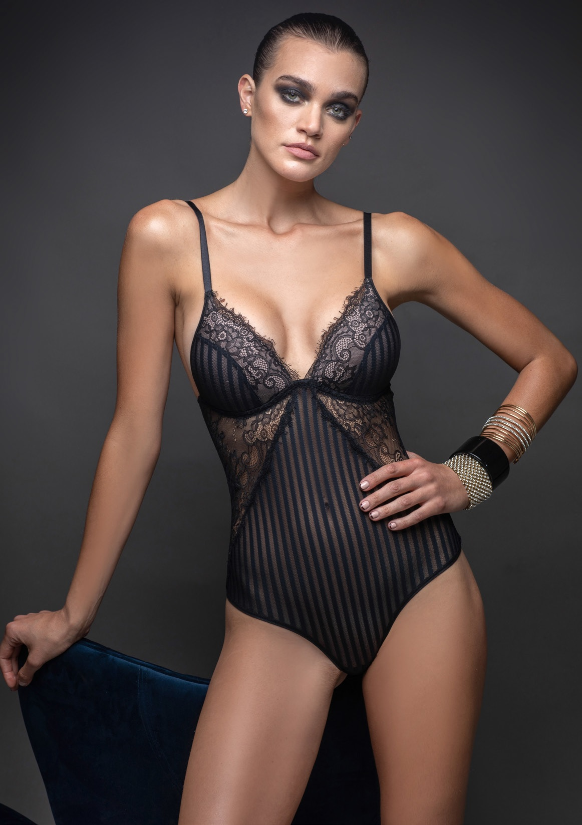 lenceria elektra - art L5703 -  body triangulo soft